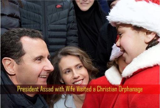 president-assad-with-wife-visited-a-christian-orphanage