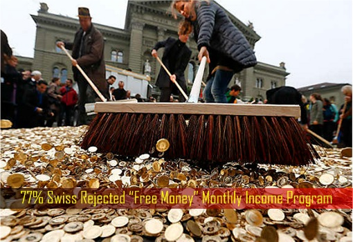 77 Percent Swiss Rejected Free Money Monthly Income Program