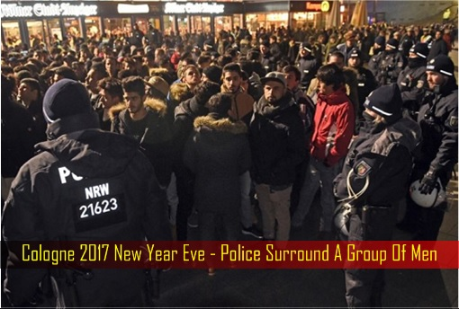 cologne-2017-new-year-eve-police-surround-a-group-of-men
