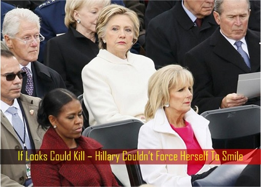 If Looks Could Kill – Hillary Couldn't Force Herself To Smile