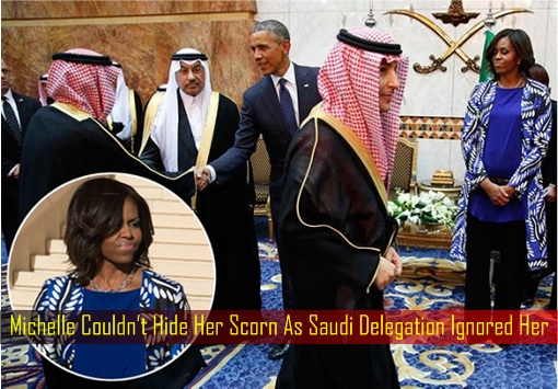 Michelle Couldn't Hide Her Scorn As Saudi Delegation Ignored Her