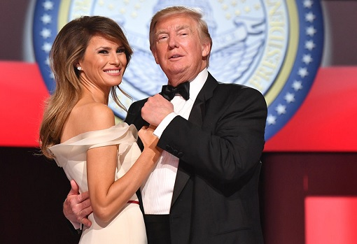 President Donald Trump and Melania Trump First Dance After Inauguration