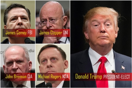 president-elect-donald-trump-james-comey-fbi-james-clapper-dni-john-brennan-cia-and-michael-rogers-nsa