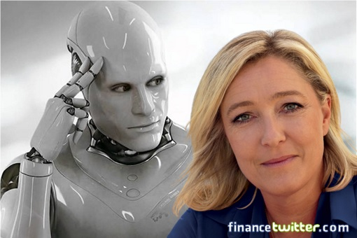 AI Artificial Intelligence Predicts Marine Le Pen To Win France Presidency