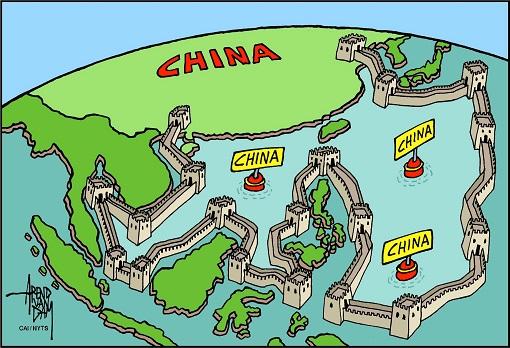 China Bully - Great Wall Around South China Sea