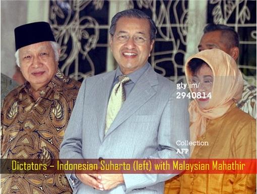 Dictators – Indonesian Suharto with Malaysian Mahathir