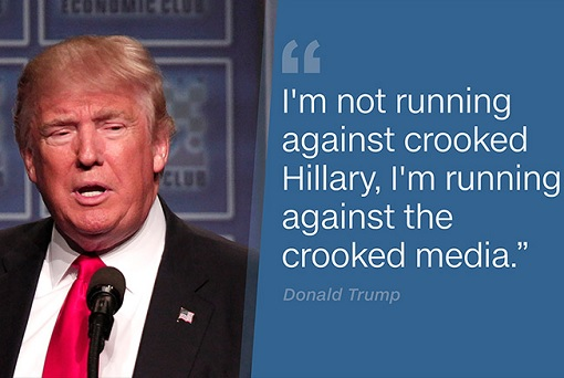 Donald Trump - Not Running Against Crooked Hillary, Running Against Crooked Media