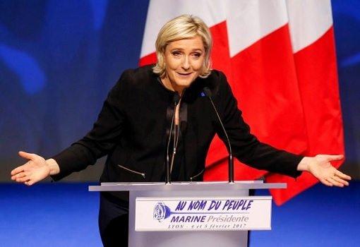 France Presidency 2017 - Marine Le Pen Giving A Speech