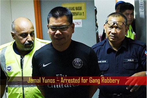 Jamal Yunos – Arrested for Gang Robbery