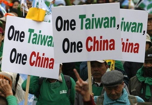 One Taiwan One China Demonstrators