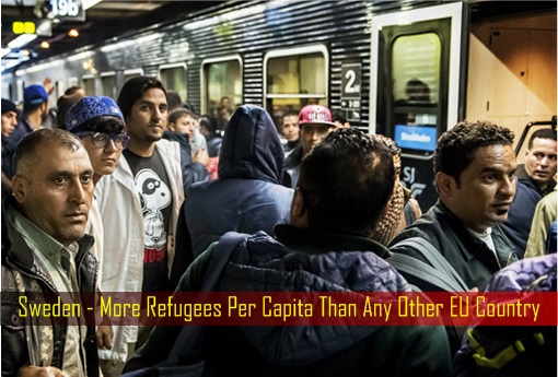 Sweden - More Refugees Per Capita Than Any Other EU Country