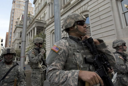 US National Guard in City