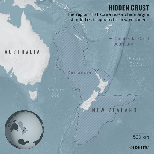 Zealandia Continent - Hidden Crust - Map