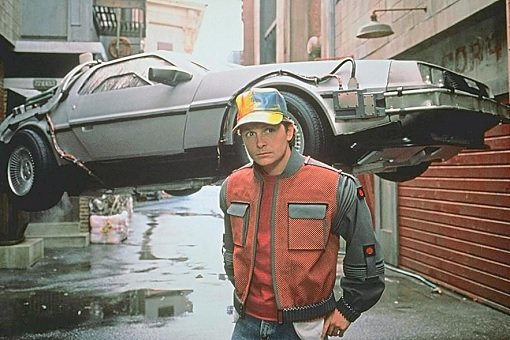 Back To The Future Flying Car - Michael J Fox