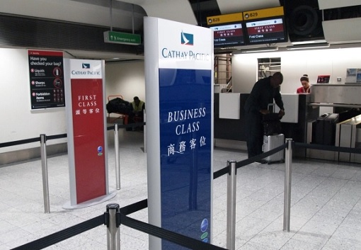 Cathay Pacific Airlines - First Class and Business Class Counters