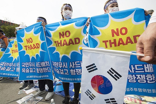 China vs South Korea - Protest THAAD Missile System