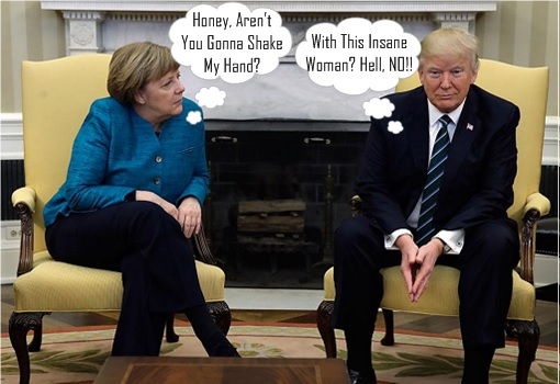 Donald Trump Refuses To Shake Hands With Angela Merkel