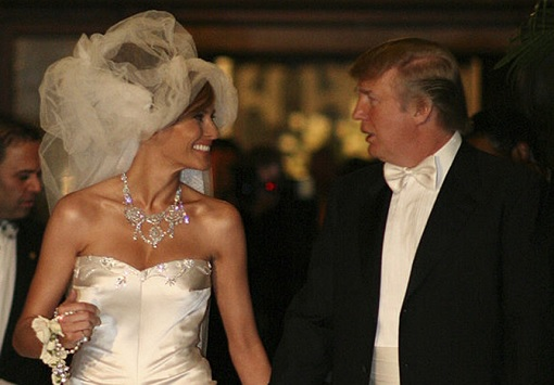 Donald Trump and Melania Trump - Wedding Photo