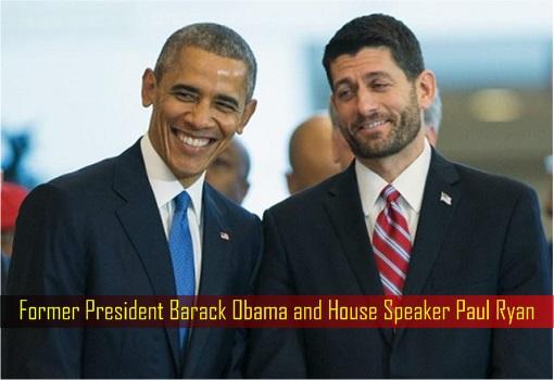 Former President Barack Obama and House Speaker Paul Ryan