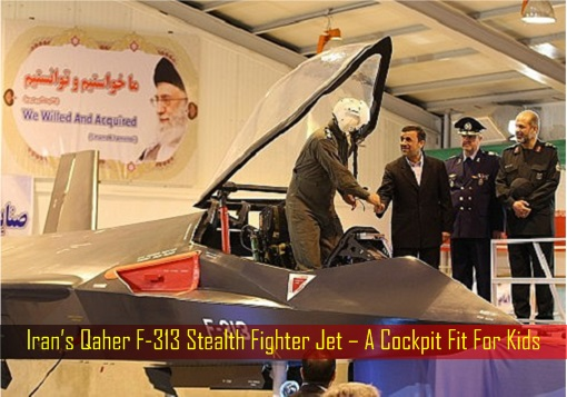 Iran's Qaher F-313 Stealth Fighter Jet – A Cockpit Fit For Kids