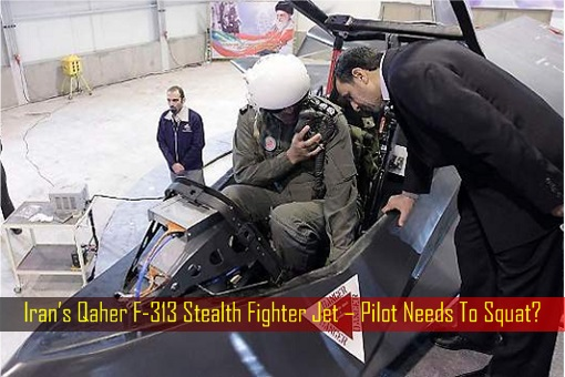 Iran's Qaher F-313 Stealth Fighter Jet – Pilot Needs To Squat