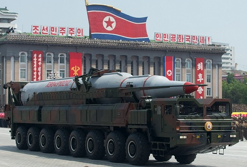 North Korea Ballistic Missile Display
