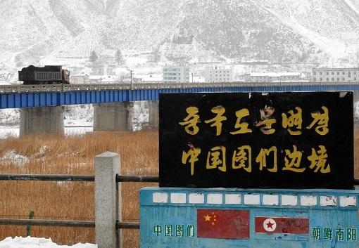North Korea Coal Export to China - Transporting Across Border