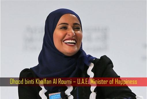 Ohood binti Khalfan Al Roumi – U.A.E. Minister of Happiness
