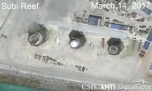 South China Sea - Subi Reef Satellite Photo March 2017