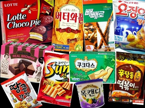 South Korea Lotte Biscuits and Candies