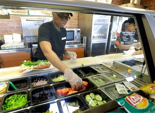 Subway Restaurant - Menu Ingredients