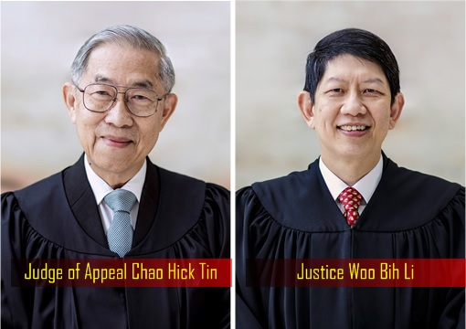 City Harvest Church CHC Appeal - Judge of Appeal Chao Hick Tin and Justice Woo Bih Li