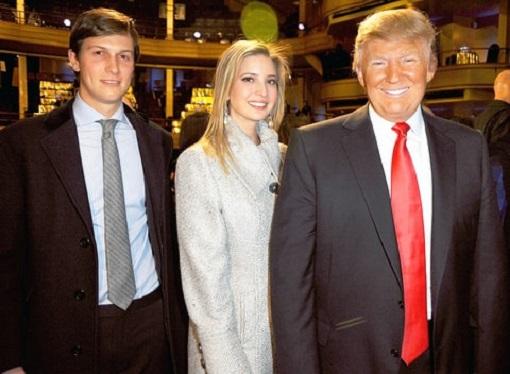 Donald Trump, Ivanka Trump and Jared Kushner