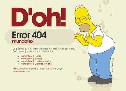 Error 404 Page - Simpson