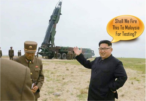 Kim Jong-un Send Ballistic Missile to Malaysia for Testing
