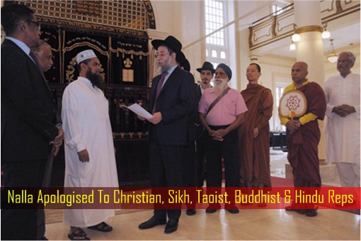 Nalla Apologised To Christian, Sikh, Taoist, Buddhist and Hindu Representatives