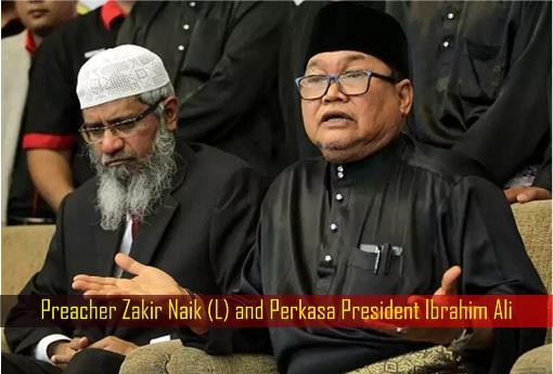 Preacher Zakir Naik and Perkasa President Ibrahim Ali