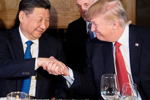 President Donald Trump and President Xi Jinping - Handshake