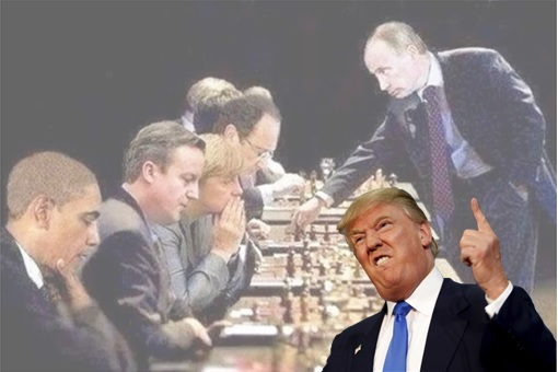 Russian Vladimir Putin - Play Chess With West Leaders
