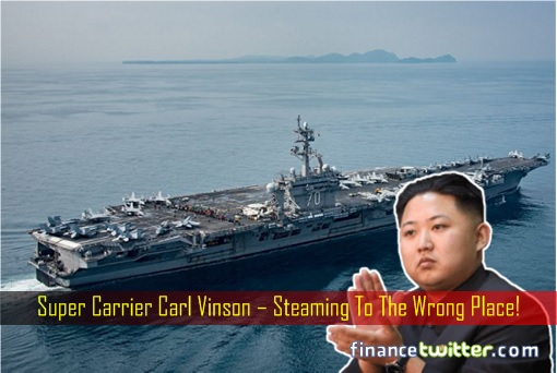 Sudden Strike On North Korea? But U.S. Aircraft Carrier Went To Wrong Place!!