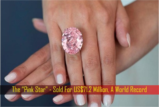 "The ""Pink Star"" - Sold For US$71.2 Million, A World Record"