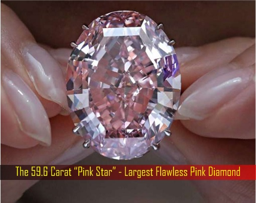 "The 59.6 Carat ""Pink Star"" - Largest Flawless Pink Diamond"