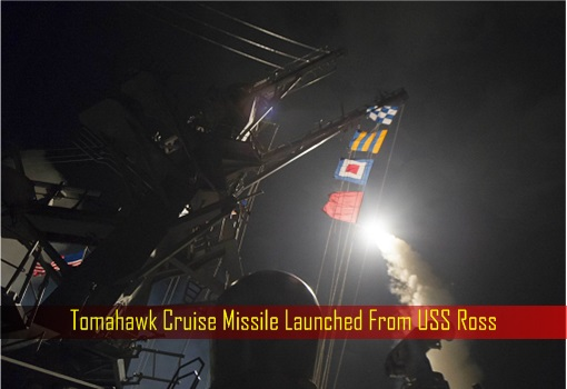 Tomahawk Cruise Missile Launched From USS Ross