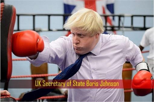 UK Secretary of State Boris Johnson