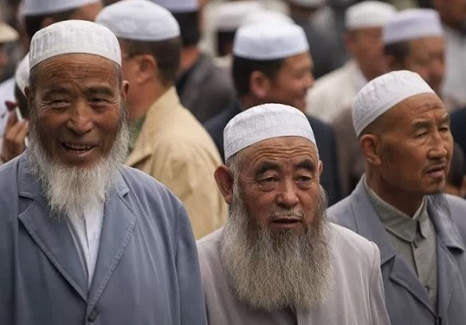 Uighur Muslim Men With Long Beard in Xinjiang