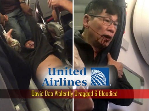 United Airlines - David Dao Violently Dragged and Bloodied