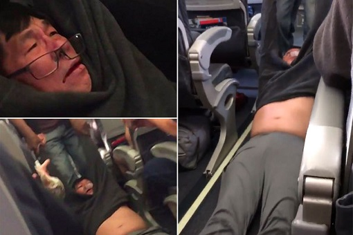 United Airlines Flight 3411 - Chinese Man David Dao Dragged and Bloodied