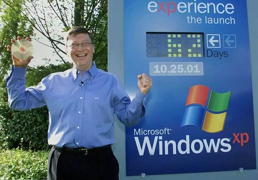 Bill Gates Launching Microsoft Windows XP - Countdown