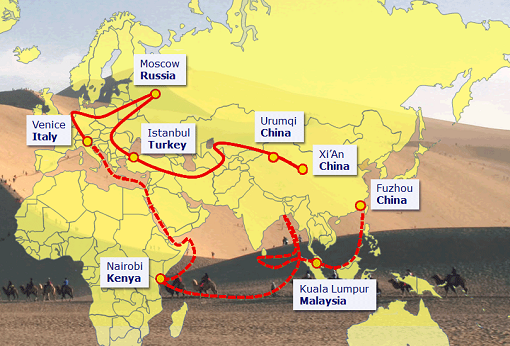China One Belt One Road - Trade Map