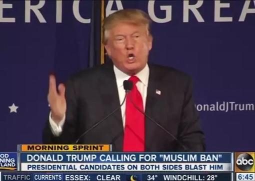 Donald Trump Calling for Muslim Ban
